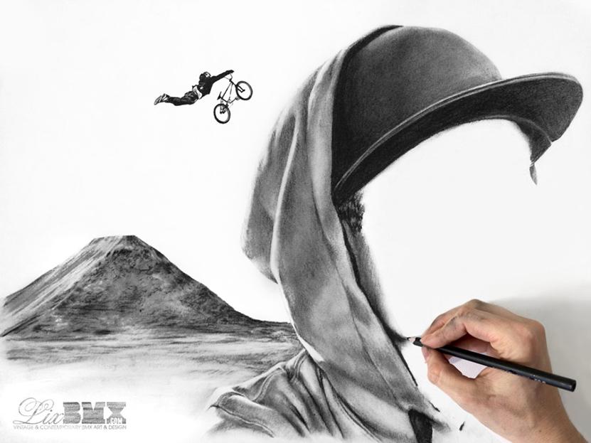 Dane Searls sketch in progress